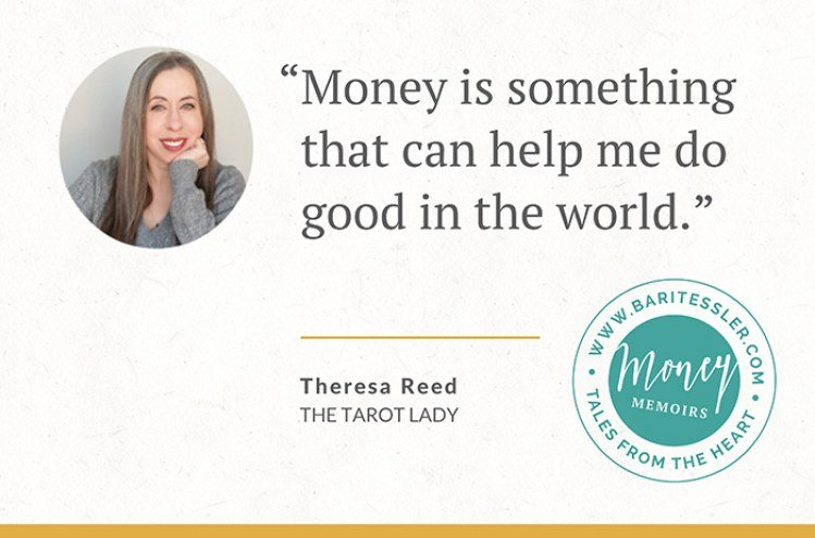 "Money Memoir: Can money be spiritual AND practical? <br>This ""Tarot Lady"" shows us how."