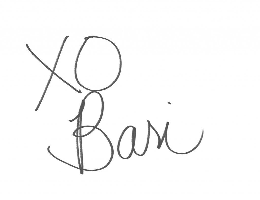 Bari's signature